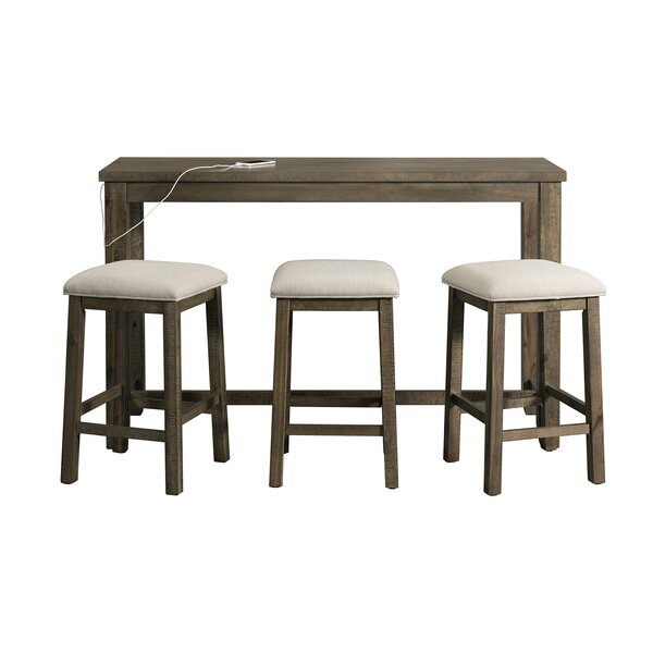 Hot Springs Multipurpose 4 Piece Pub Table Set by Three Posts