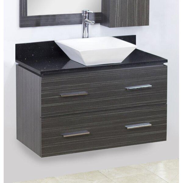 36 Single Modern Wall Mount Bathroom Vanity Set by American Imaginations