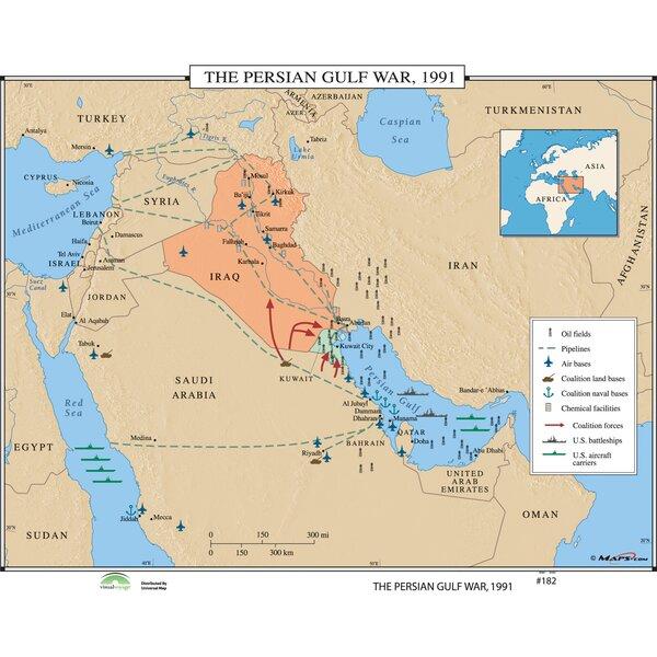 World History Wall Maps - The Persian Gulf War 1991 by Universal Map