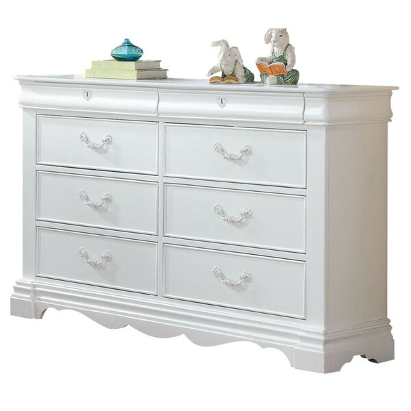 Aiden Wood 8 Drawer Double Dresser by Alcott Hill