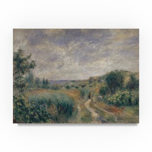 Landscape Near Essoyes 1892 Oil Painting Print On Wred Canvas
