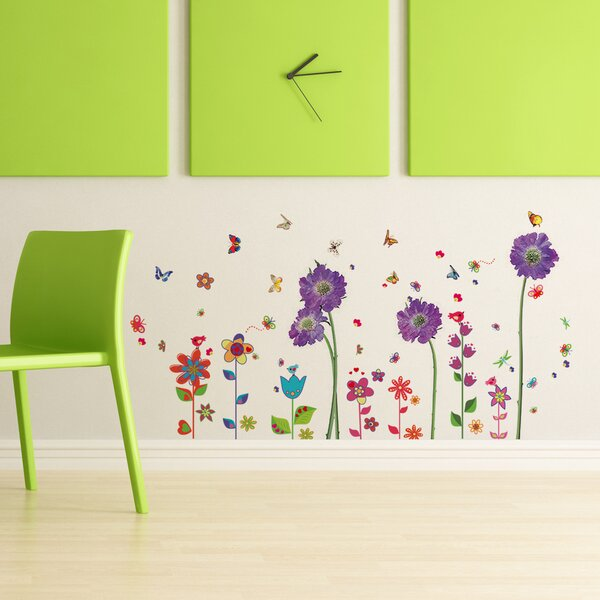 Beaudet Flower Colourful Flower Wall Decal by Harriet Bee