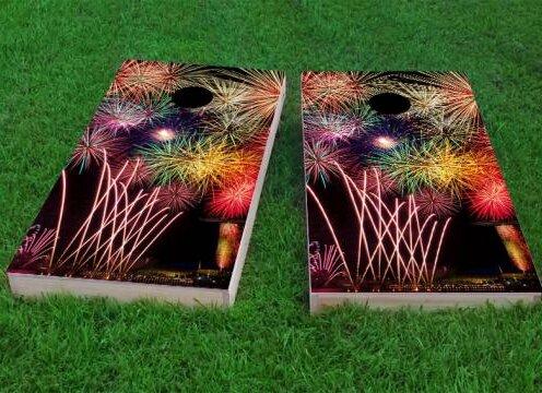 Fireworks Cornhole Game (Set of 2) by Custom Cornhole Boards