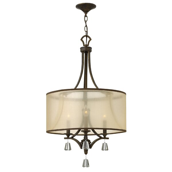 Carlock 3-Light Candle Style Drum Chandelier By Red Barrel Studio