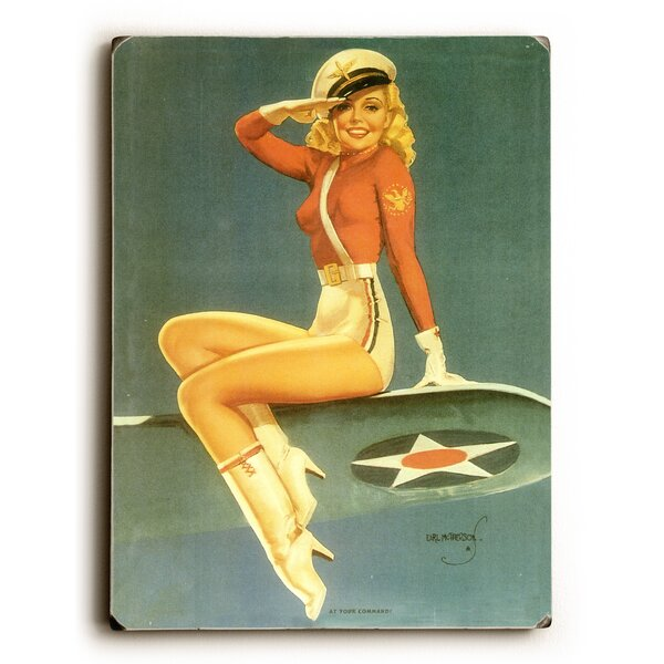 Army Air Force Pin Up Girl Photographic Print by Artehouse LLC