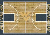 NCAA College Home Court West Virginia Novelty Rug by My Team by Milliken