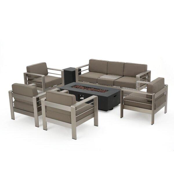 Royalston 7 Piece Sofa Set with Cushions Brayden Studio W000577980