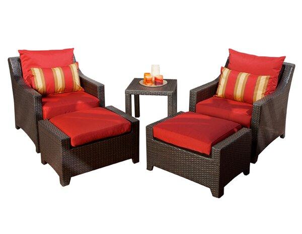 Northridge 5 Piece Conversation Set with Cushions by Three Posts