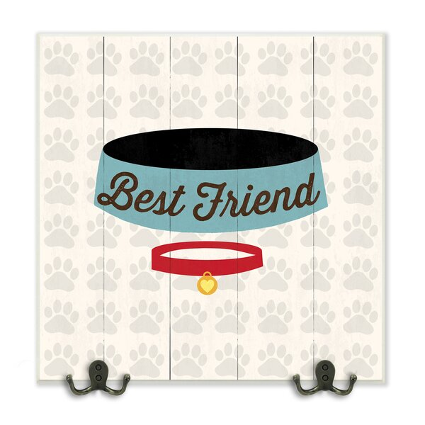 Best Friends Dog Collar and Bowl Graphic Wall Plaque by Stupell Industries