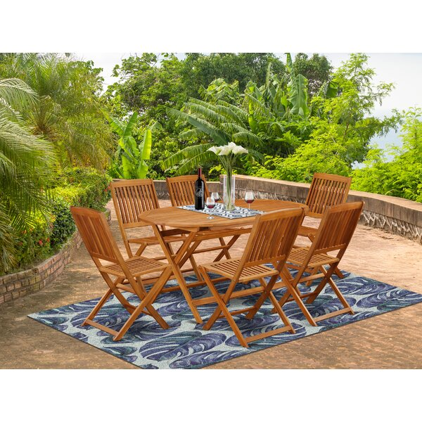 Benny 7 Piece Patio Dining Set by Longshore Tides