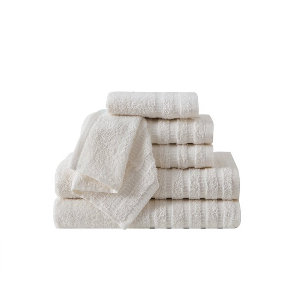 Gabriel Wide Ribbed Hotel 6 Piece Towel Set by Gre