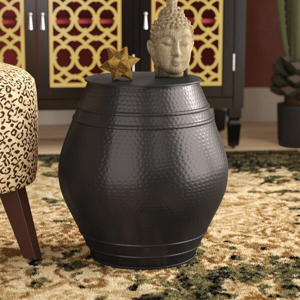 Mayer Moroccan Hammered Stool by World Menagerie
