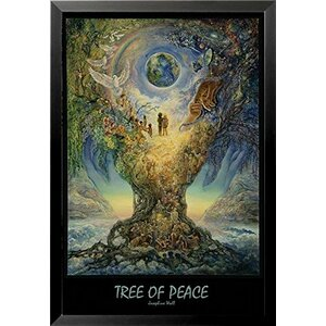 'Tree of Peace' by Josephine Framed Graphic Art by Buy Art For Less