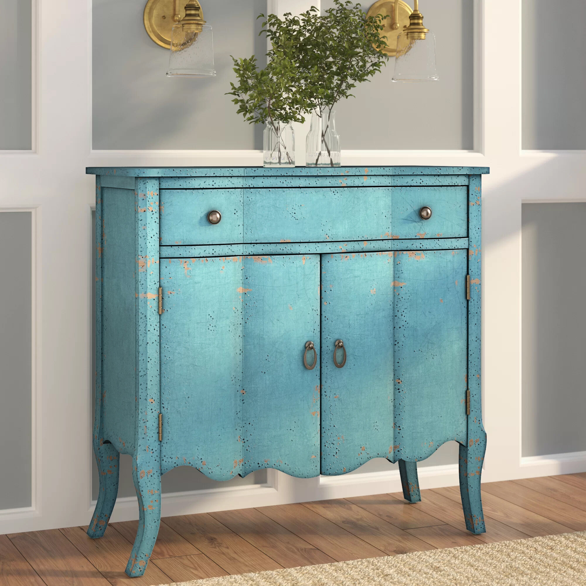One Allium Way Calie 2 Door Accent Cabinet & Reviews | Wayfair