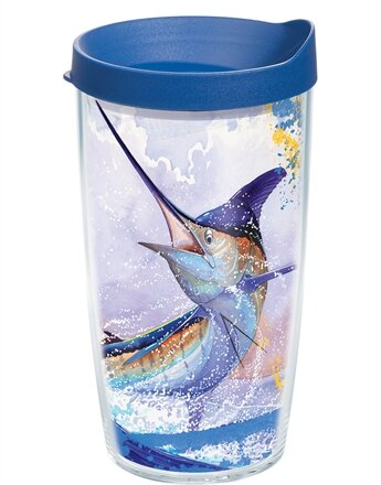 Guy Harvey Marlin Plastic Travel Tumbler by Tervis Tumbler