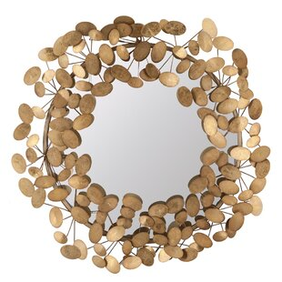 Foreside Home & Garden Pressed Penny Accent Wall Mirror