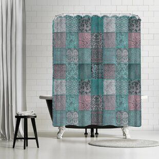 Price comparison Lebens Art Patchwork Shower Curtain By East Urban Home