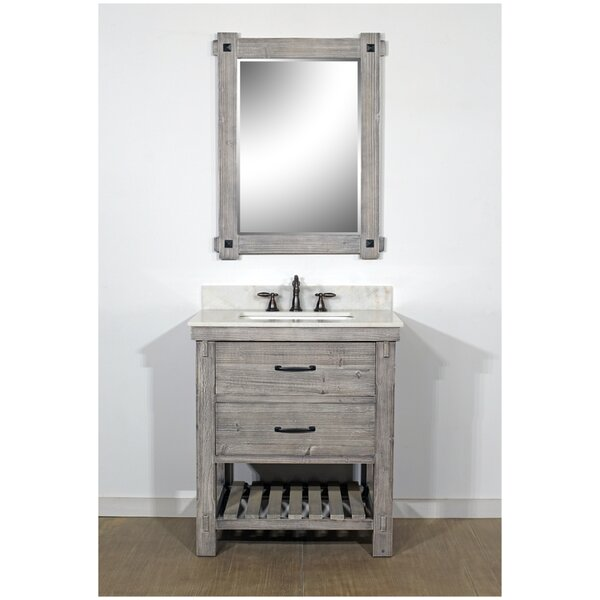 Zaleski Rustic Solid Fir 31 Single Bathroom Vanity Set by Gracie Oaks