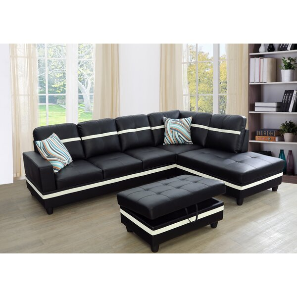 Lefebre Sectional With Ottoman By Latitude Run