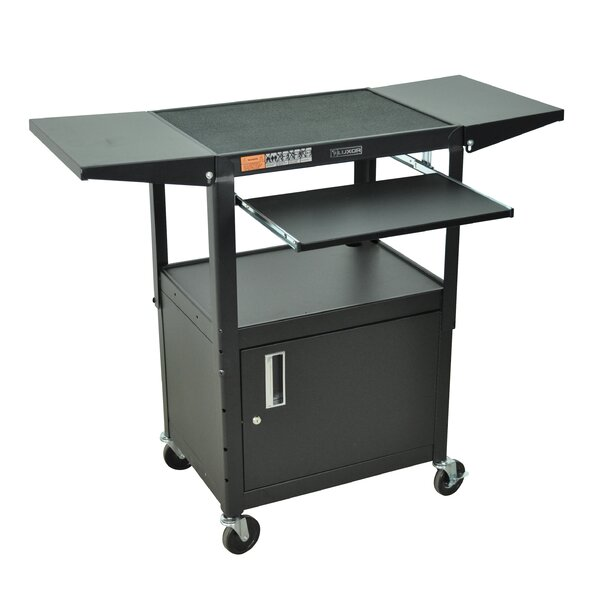Compact Computer Workstation AV Cart by Luxor