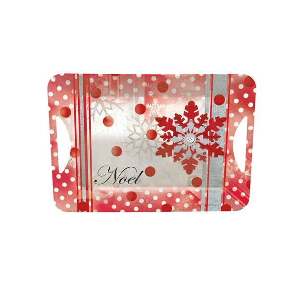 Winter Holiday Melamine Open Handle Serving Tray by Lang