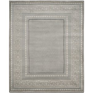 Ahoghill Hand-Knotted Gray Area Rug