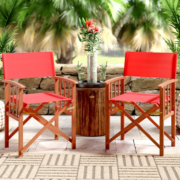 Ines Folding Patio Dining Chair (Set Of 2) By Beachcrest Home by Beachcrest Home