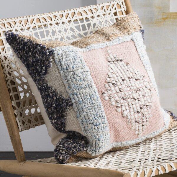 Assakina Wool Throw Pillow by Bungalow Rose