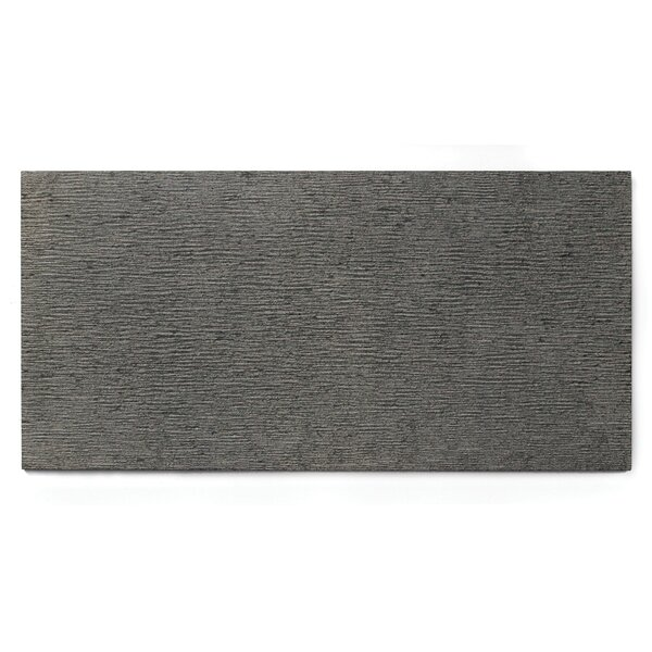 Basalt Etched 15 x 30 Basalt Field Tile in Grey by Solistone