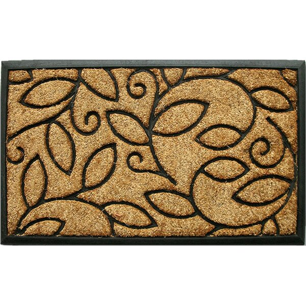 Glenmeadow Vine Leaves Doormat by Red Barrel Studi