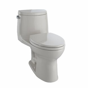 Ultramax II 1.28 GPF (Water Efficient) Elongated One-Piece Toilet with Glazed Surface (Seat Included) ByToto