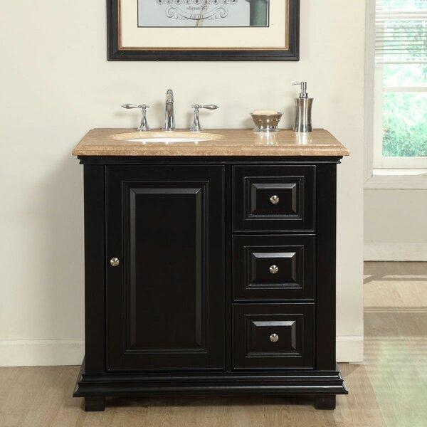 36 Single Sink Bathroom Vanity Set with Sink on Left by Fleur De Lis Living