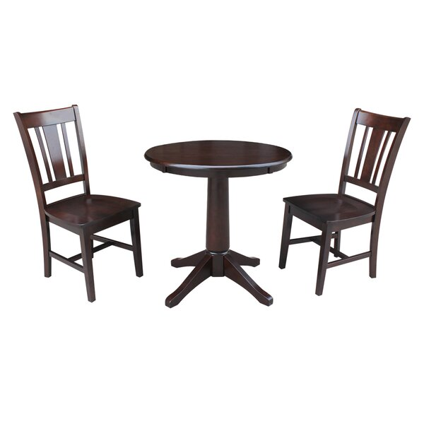 Shullsburg 3 Piece Solid Wood Dining Set by Canora Grey