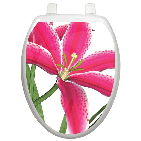 Themes Stargazer Lily Toilet Seat Decal by Toilet Tattoos