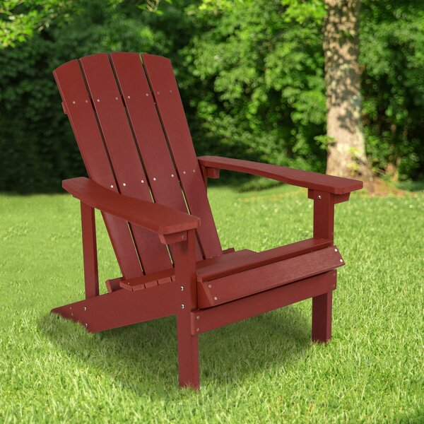 Pinette Plastic/Resin Adirondack Chair by Breakwater Bay Breakwater Bay