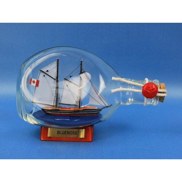 Bluenose Sail Model Ship in a Bottle by Handcrafted Nautical Decor