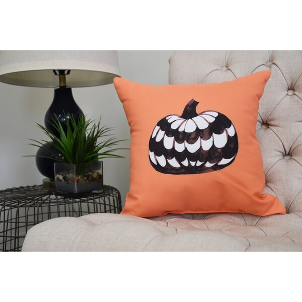 Maser Pumpkin Halloween Throw Pillow by The Holiday Aisle