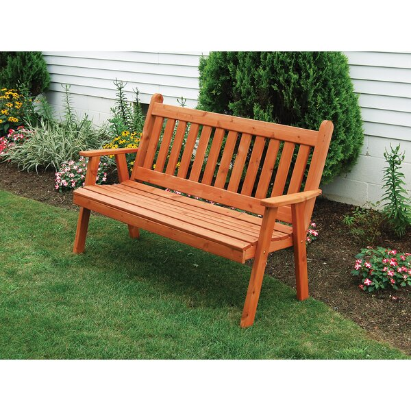 Gaydos English Wooden Garden Bench by Millwood Pines Millwood Pines
