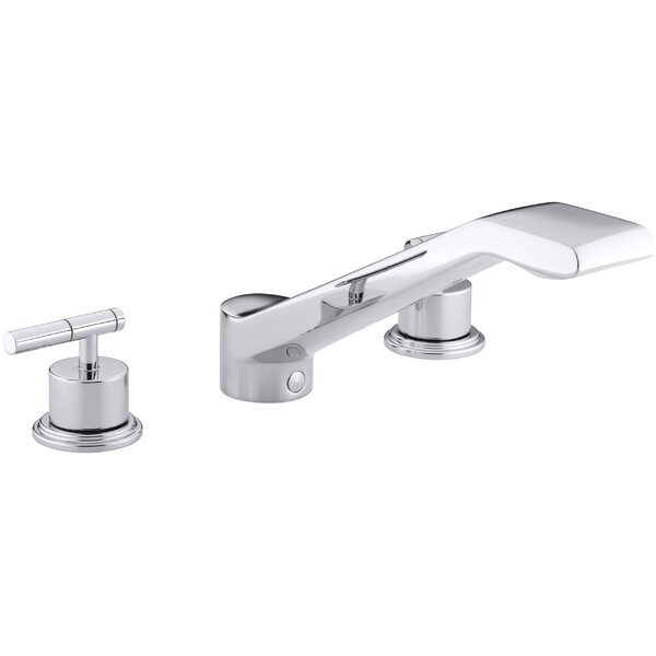 Taboret Deck-Mount Bath Faucet Trim for High-Flow Valve with 9-5/8 Bullnose Non-Diverter Spout and Lever Handles, Valve Not Included by Kohler