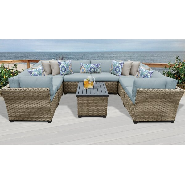 Rochford 9 Piece Sectional Seating Group with Cushions by Sol 72 Outdoor