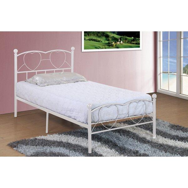 Herault Metal Heart Twin Slat Bed by Harriet Bee