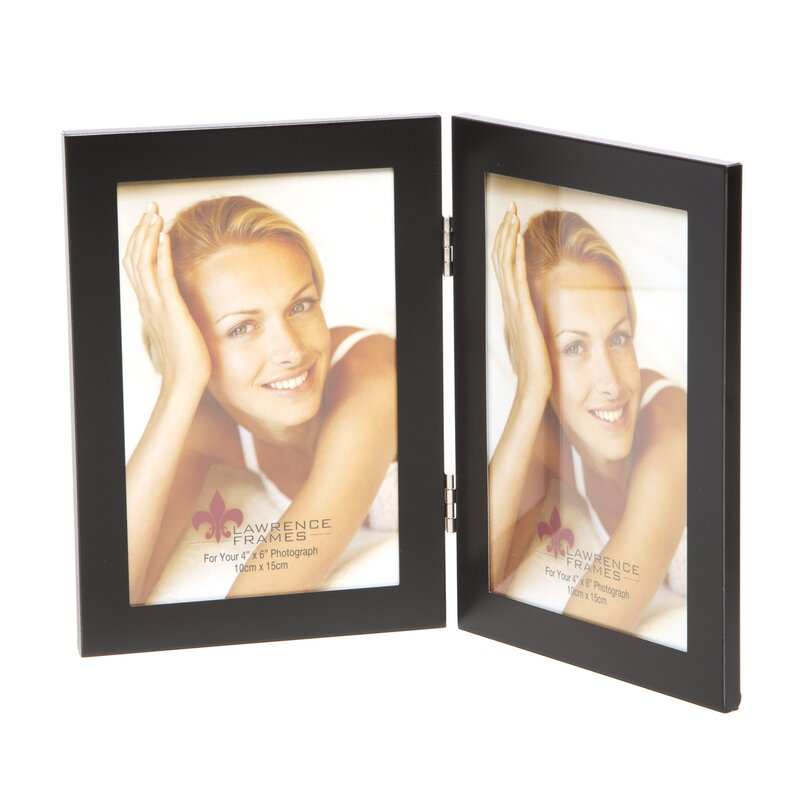 Lawrence Frames Metal Hinged Double Picture Frame & Reviews | Wayfair