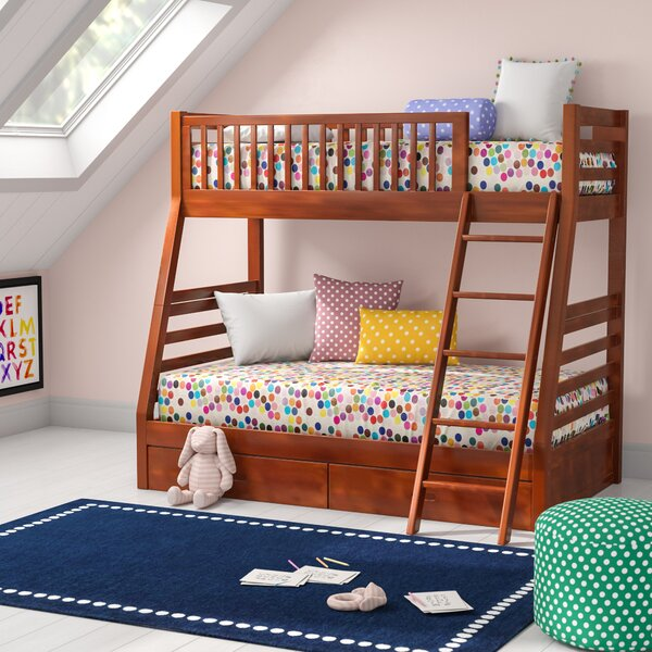 Felicia Twin Over Full Bunk Bed with Drawers by Viv + Rae