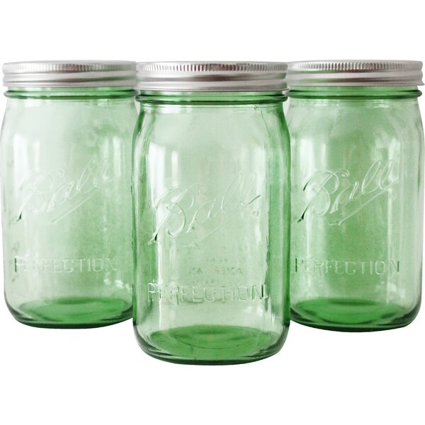32 oz. Glass Mason Jar Set (Set of 3) by Designs By Embellish
