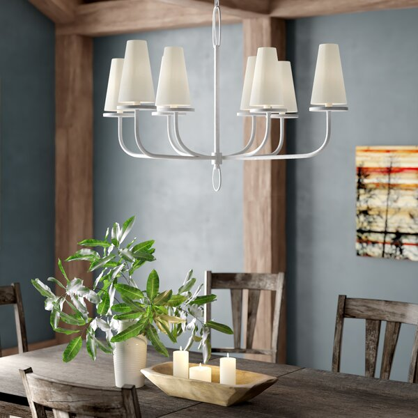 Oatman 8 - Light Shaded Classic / Traditional Chandelier by Union Rustic Union Rustic