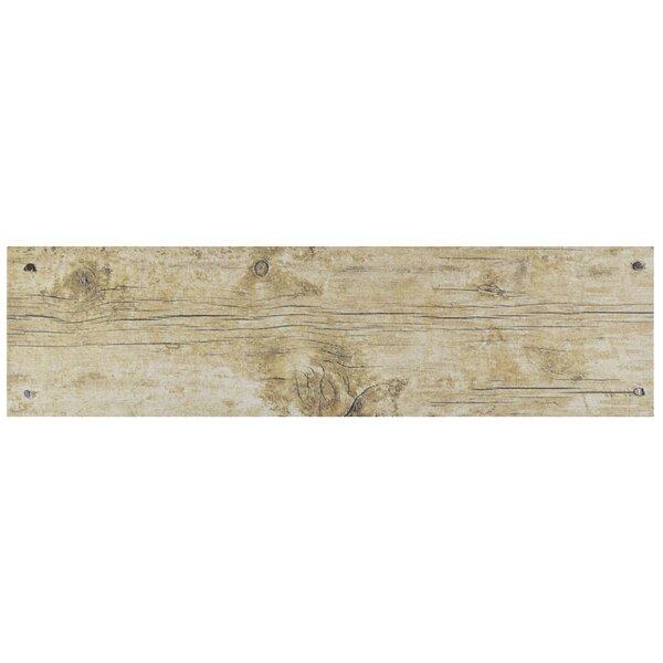Chalet 5.88 x 23.63 Ceramic Wood Look Tile in Beige by EliteTile