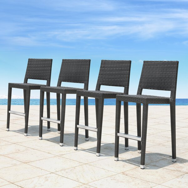 Boger 29 Patio Bar Stool (Set of 4) by Brayden Studio