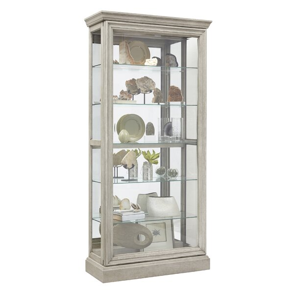 Codman 5 Shelf Sliding Door Lighted Curio Cabinet by Rosecliff Heights
