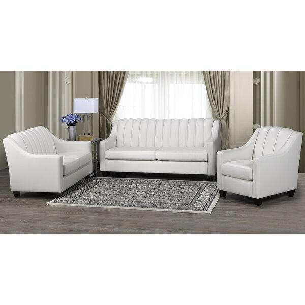 Conkling 3 Piece Leather Living Room Set By Charlton Home
