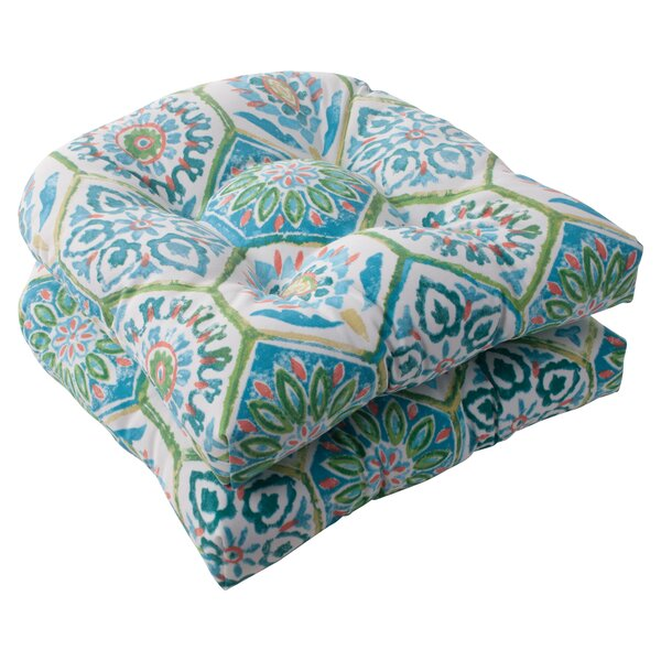 Burkburnett Fabric Indoor/Outdoor Seat Cushion (Set of 2) by Bungalow Rose